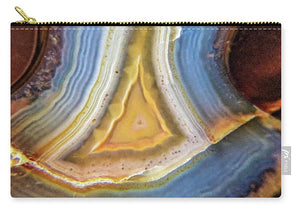 Crystals And Stones Banded Agate 2346 - Carry-All Pouch - Jani Bryson Intuitive Photographer