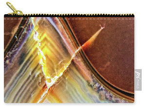 Crystals And Stones Banded Agate 2362 - Carry-All Pouch - Jani Bryson Intuitive Photographer