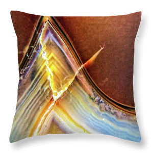 Crystals And Stones Banded Agate 2362 - Throw Pillow - Jani Bryson Intuitive Photographer