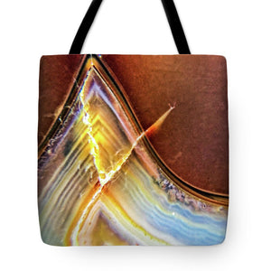 Crystals And Stones Banded Agate 2362 - Tote Bag - Jani Bryson Intuitive Photographer