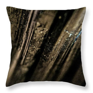 Crystals And Stones Black Tourmaline 1451 - Throw Pillow - Jani Bryson Intuitive Photographer
