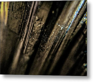 Crystals And Stones Black Tourmaline 1451 - Metal Print - Jani Bryson Intuitive Photographer
