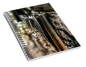 Crystals And Stones Black Tourmaline 1540 - Spiral Notebook - Jani Bryson Intuitive Photographer