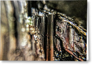Crystals And Stones Black Tourmaline 1540 - Greeting Card - Jani Bryson Intuitive Photographer