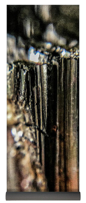Crystals And Stones Black Tourmaline 1540 - Yoga Mat - Jani Bryson Intuitive Photographer
