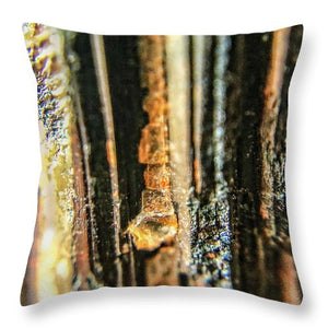 Crystals And Stones Black Tourmaline 1550 - Throw Pillow - Jani Bryson Intuitive Photographer