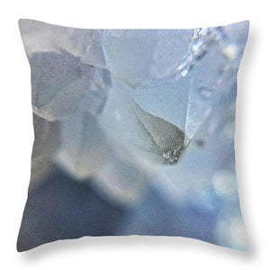 Crystals And Stones Blue Lace Agate  - Throw Pillow