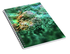 Crystals And Stones Chrysocolla 7689 - Spiral Notebook - Jani Bryson Intuitive Photographer