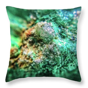 Crystals And Stones Chrysocolla 7689 - Throw Pillow - Jani Bryson Intuitive Photographer