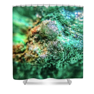 Crystals And Stones Chrysocolla 7689 - Shower Curtain - Jani Bryson Intuitive Photographer