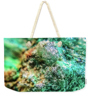 Crystals And Stones Chrysocolla 7689 - Weekender Tote Bag - Jani Bryson Intuitive Photographer