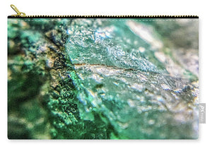 Crystals And Stones Chrysocolla 7760 - Carry-All Pouch - Jani Bryson Intuitive Photographer