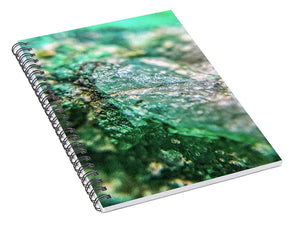 Crystals And Stones Chrysocolla 7760 - Spiral Notebook - Jani Bryson Intuitive Photographer