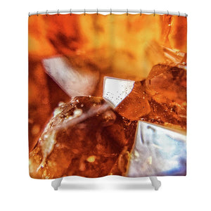 Crystals And Stones Citrine 1882 - Shower Curtain - Jani Bryson Intuitive Photographer