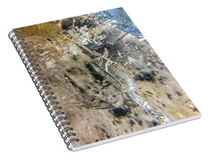 Crystals And Stones Clear Quartz 0114 - Spiral Notebook - Jani Bryson Intuitive Photographer