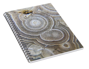 Crystals And Stones Crazy Lace Agate 0992 - Spiral Notebook - Jani Bryson Intuitive Photographer