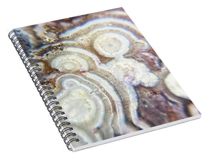 Crystals And Stones Crazy Lace Agate 1018 - Spiral Notebook - Jani Bryson Intuitive Photographer