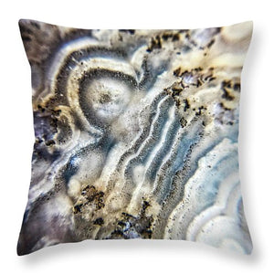 Crystals And Stones Crazy Lace Agate 1023 - Throw Pillow - Jani Bryson Intuitive Photographer
