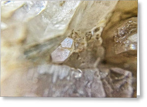 Crystals And Stones Fairy Wand Quartz 9775 - Greeting Card - Jani Bryson Intuitive Photographer