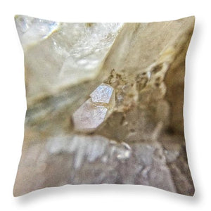 Crystals And Stones Fairy Wand Quartz 9775 - Throw Pillow - Jani Bryson Intuitive Photographer