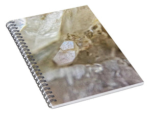 Crystals And Stones Fairy Wand Quartz 9775 - Spiral Notebook - Jani Bryson Intuitive Photographer