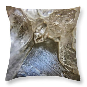 Crystals And Stones Fairy Wand Quartz 9819 - Throw Pillow - Jani Bryson Intuitive Photographer