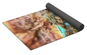 Crystals And Stones Labradorite 8041 - Yoga Mat - Jani Bryson Intuitive Photographer