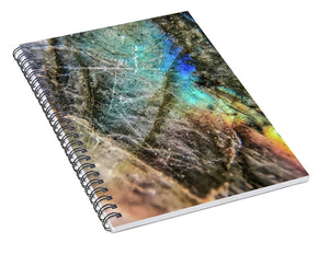 Crystals And Stones Labradorite 8058 - Spiral Notebook