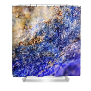 Crystals And Stones Lapis Lazuli 8549 - Shower Curtain - Jani Bryson Intuitive Photographer