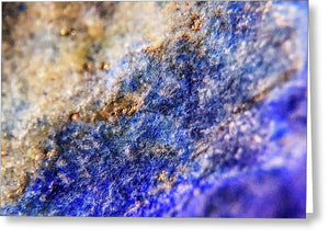 Crystals And Stones Lapis Lazuli 8549 - Greeting Card - Jani Bryson Intuitive Photographer