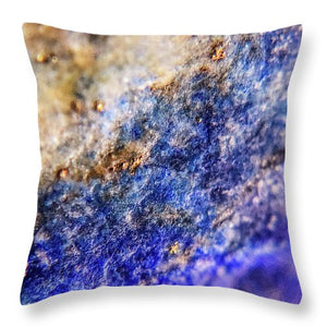 Crystals And Stones Lapis Lazuli 8549 - Throw Pillow - Jani Bryson Intuitive Photographer