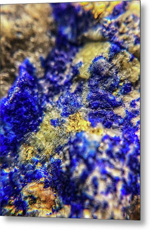 Crystals And Stones Lapis Lazuli 8572 - Metal Print - Jani Bryson Intuitive Photographer
