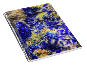 Crystals And Stones Lapis Lazuli 8572 - Spiral Notebook - Jani Bryson Intuitive Photographer