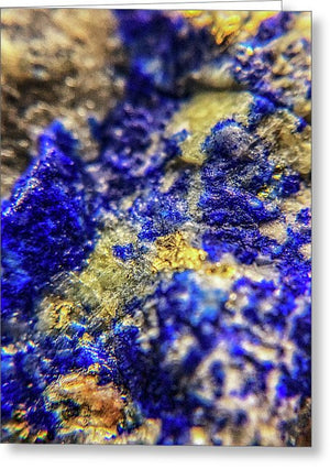 Crystals And Stones Lapis Lazuli 8572 - Greeting Card - Jani Bryson Intuitive Photographer