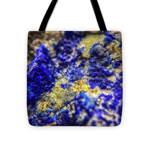 Crystals And Stones Lapis Lazuli 8572 - Tote Bag - Jani Bryson Intuitive Photographer