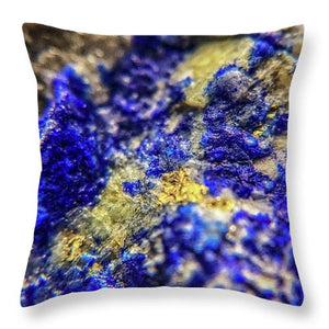 Crystals And Stones Lapis Lazuli 8572 - Throw Pillow - Jani Bryson Intuitive Photographer