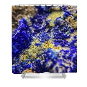 Crystals And Stones Lapis Lazuli 8572 - Shower Curtain - Jani Bryson Intuitive Photographer