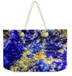 Crystals And Stones Lapis Lazuli 8572 - Weekender Tote Bag - Jani Bryson Intuitive Photographer