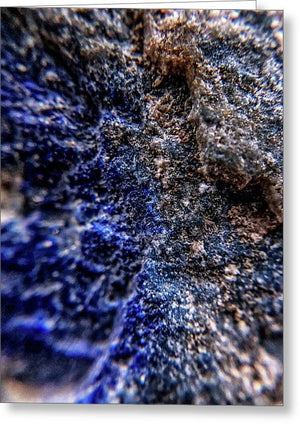 Crystals And Stones Lapis Lazuli 8583 - Greeting Card - Jani Bryson Intuitive Photographer