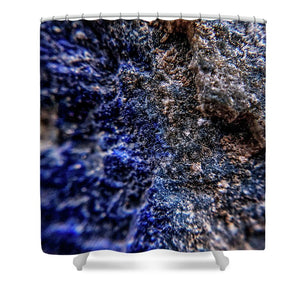 Crystals And Stones Lapis Lazuli 8583 - Shower Curtain - Jani Bryson Intuitive Photographer