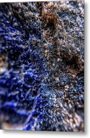 Crystals And Stones Lapis Lazuli 8583 - Metal Print - Jani Bryson Intuitive Photographer