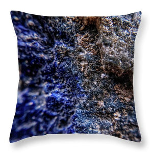 Crystals And Stones Lapis Lazuli 8583 - Throw Pillow - Jani Bryson Intuitive Photographer