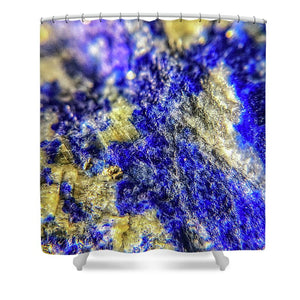 Crystals And Stones Lapis Lazuli 8625 - Shower Curtain - Jani Bryson Intuitive Photographer