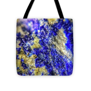 Crystals And Stones Lapis Lazuli 8625 - Tote Bag - Jani Bryson Intuitive Photographer