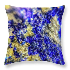 Crystals And Stones Lapis Lazuli 8625 - Throw Pillow - Jani Bryson Intuitive Photographer