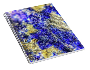 Crystals And Stones Lapis Lazuli 8625 - Spiral Notebook - Jani Bryson Intuitive Photographer