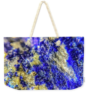 Crystals And Stones Lapis Lazuli 8625 - Weekender Tote Bag - Jani Bryson Intuitive Photographer
