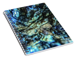 Crystals And Stones Lepidolite 8997 - Spiral Notebook - Jani Bryson Intuitive Photographer