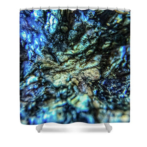 Crystals And Stones Lepidolite 8997 - Shower Curtain - Jani Bryson Intuitive Photographer