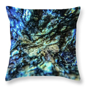 Crystals And Stones Lepidolite 8997 - Throw Pillow - Jani Bryson Intuitive Photographer